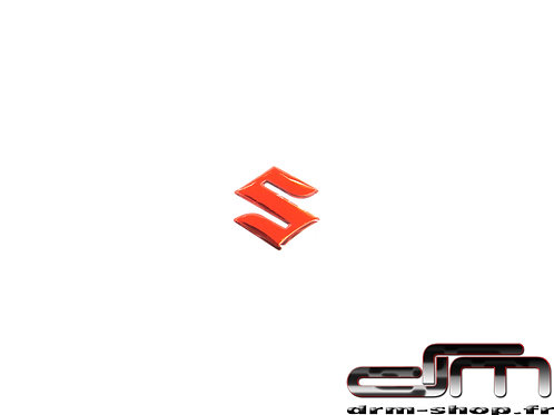 "Sticker 3D - Mini - "" S "" Suzuki ( Rouge )"