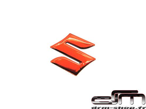 """Sticker 3D """" S """" Suzuki ( Rouge )"""