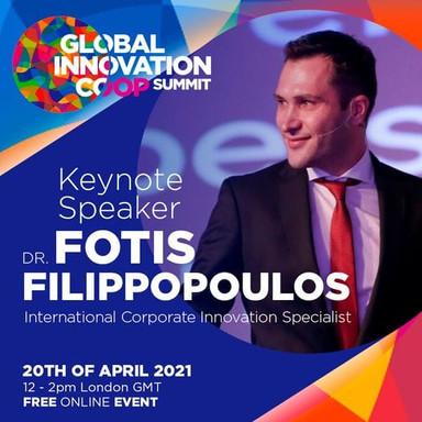 Ο Δρ Φώτης Φιλιππόπουλος εισηγητής στο GLOBAL INNOVATION COOP SUMMIT 2021 | 20/04