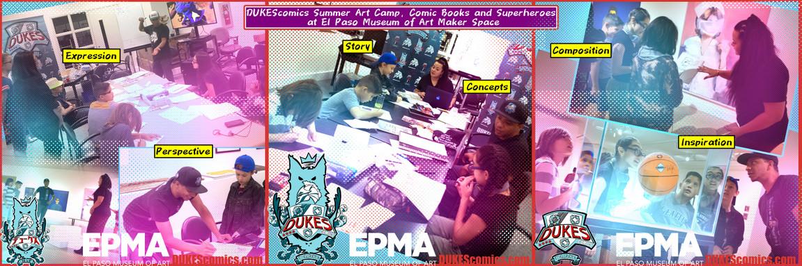 El Paso Museum of Art Comics Camp