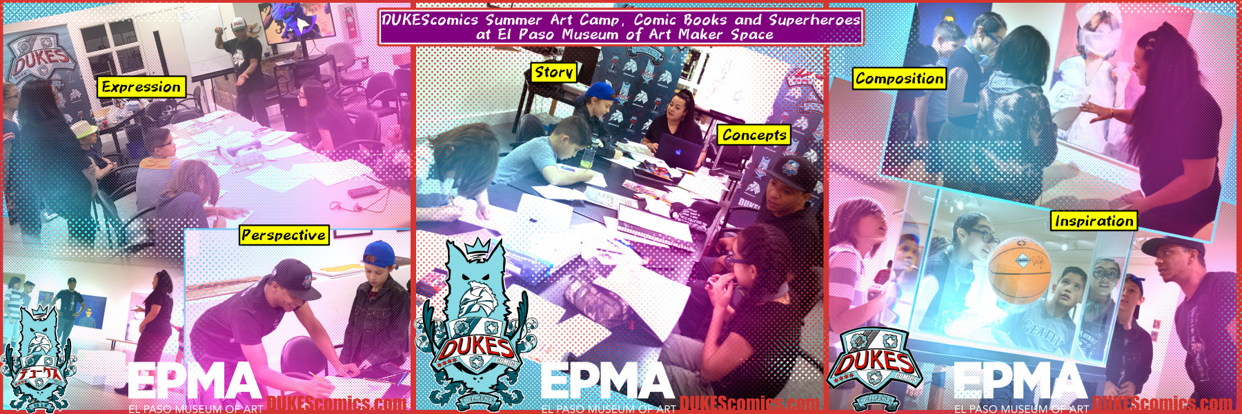 El Paso Museum of Art Comics Camp