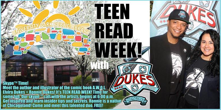 Teen Read Week at University Park library