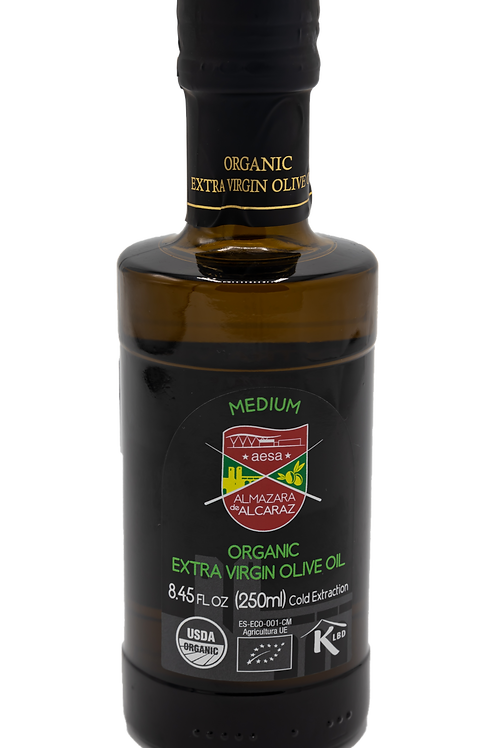 Medium Organic Extra Virgin Olive Oil-USDA Organic-Kosher-8.45 fl oz