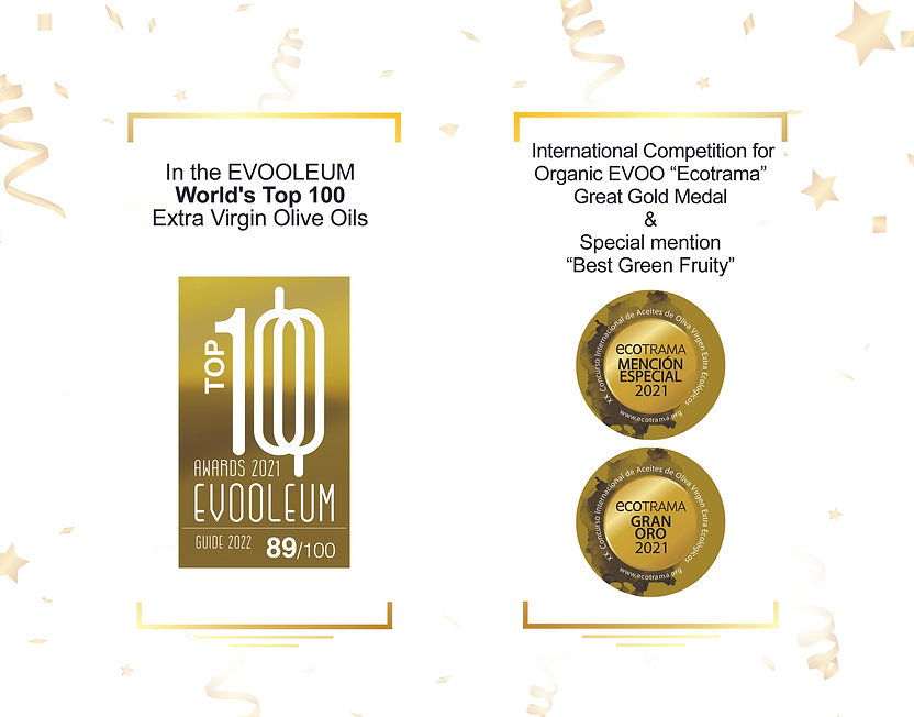 World's Top 100 Extra Virgin Olive Oil.