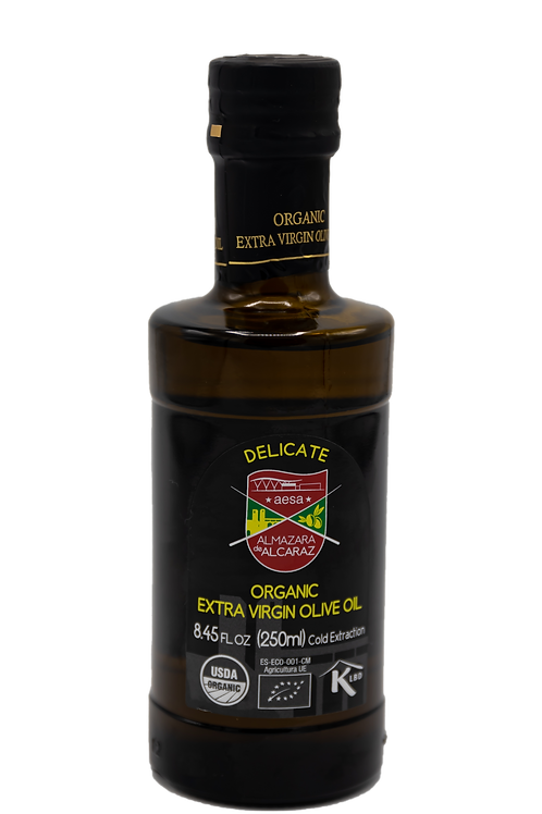 Delicate Organic Extra Virgin Olive Oil-USDA Organic-Kosher-8.45 fl oz