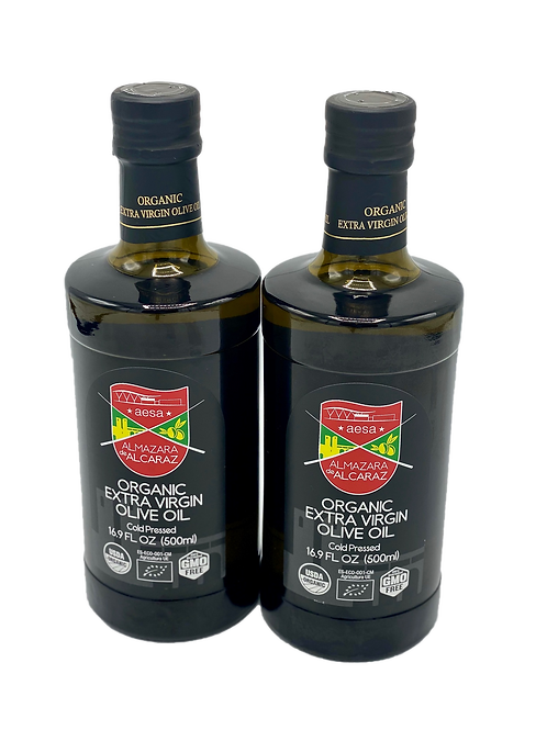 2 Bottles-Medium Organic Extra Virgin Olive Oil-USDA Organic-Kosher-16.9 fl oz