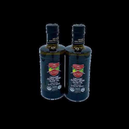 2 Bottles-Medium Organic Extra Virgin Olive Oil-USDA Organic-Kosher-16.9 fl oz
