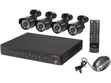 4 Channel with 800TVL camera's, 250GB HDD