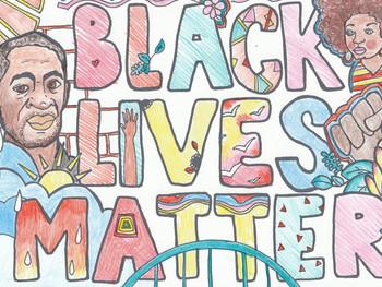 Black Lives Matter - Coloring Page