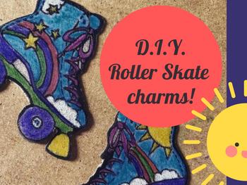 Roller Skate Shrinky Charm