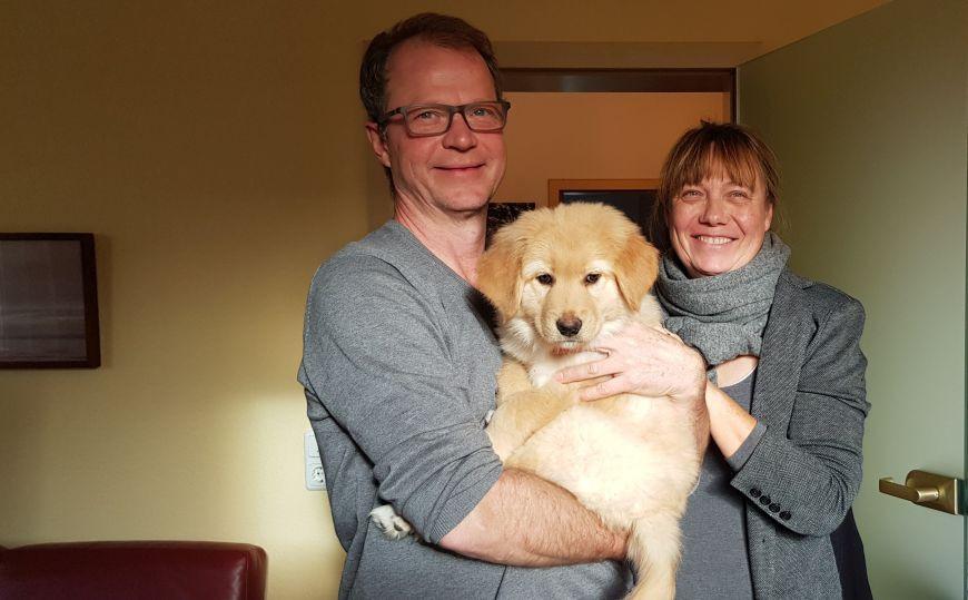 Audrey (genannt Lotte) auf dem Arm von Sabine & Hans