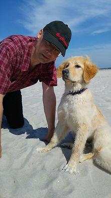 Olaf und Malu am Ostsee-Strand