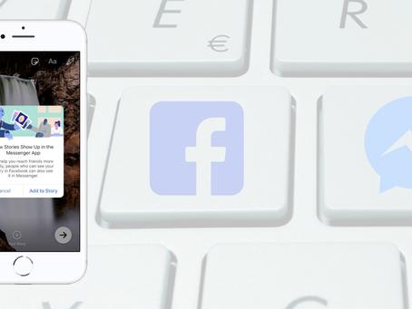 Stories do Facebook e do Messenger são unificados.