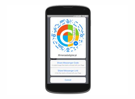 Brevemente o Messenger vai usar códigos  estilo snapchat para encontrar utilizadores.