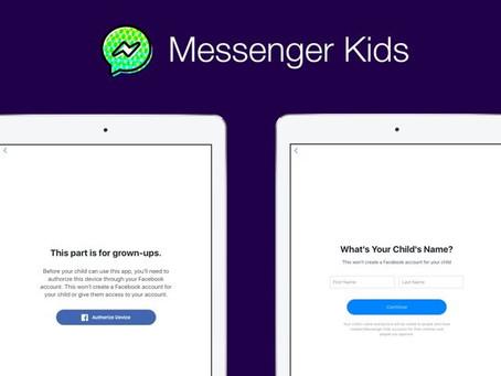 Só os pais podem add: Facebook lança o Messenger Kids