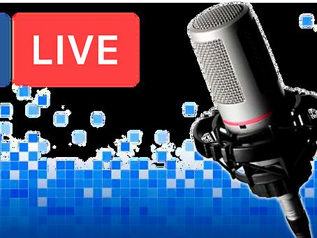 Faça transmissões de áudio ao vivo usando o app do Facebook.