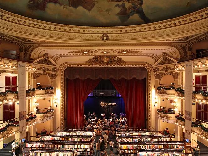 Viajar Buenos Aires: Livraria El Ateneo: Teatro, cinema e finalmente livraria!