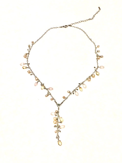 Chan Luu Citrine Mix Adjustable Necklace