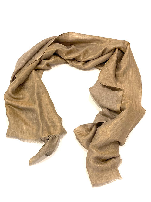 Blue Pacific Scarf Cashmere Sparkle Taupe