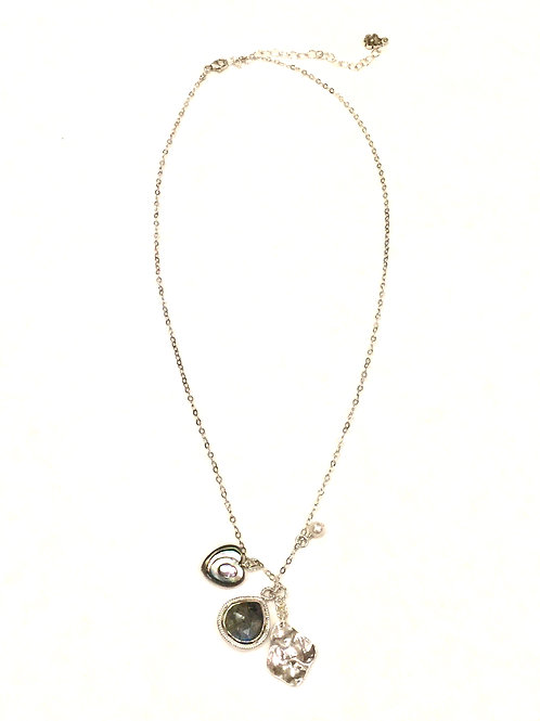 Chan Luu Short Adjustable Necklace with Labradorite Mix Charms