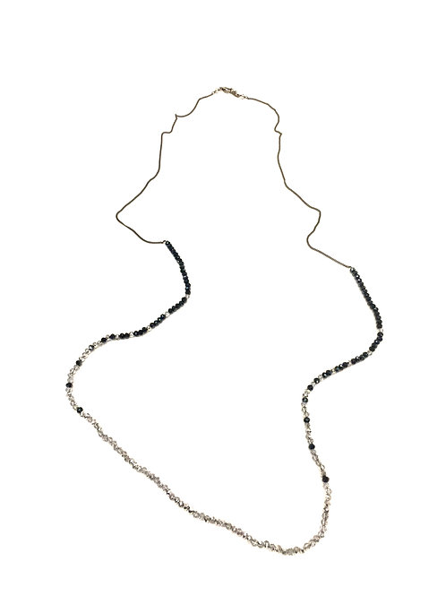 Chan Luu Long Necklace with Twilight and Silver Crystals