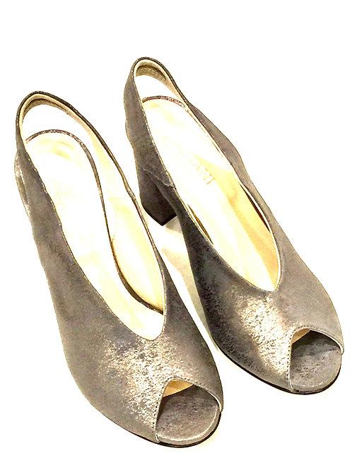 Cordani Suede Leather Peep-Toe Sling