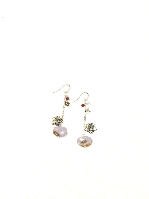 Chan Luu Earrings with Semi Precious Stones