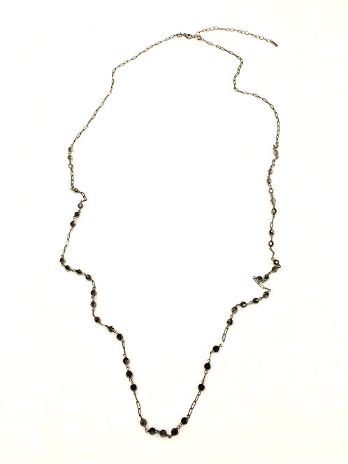 Chan Luu Adjustable Necklace with Dark Crystals