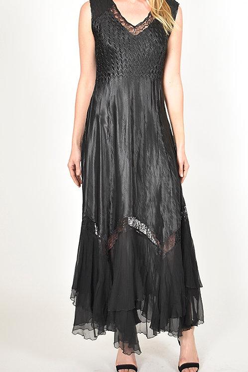 Komarov Sleeveless V-Neck Gown