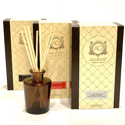 Aquiesse Luxe Linen, Passion Fruit & Citrus and Black Orchid Fragrant Oil Reed D
