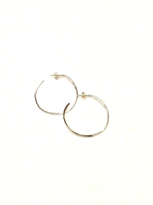 Chan Luu Sterling Silver Post Hoop Earrings