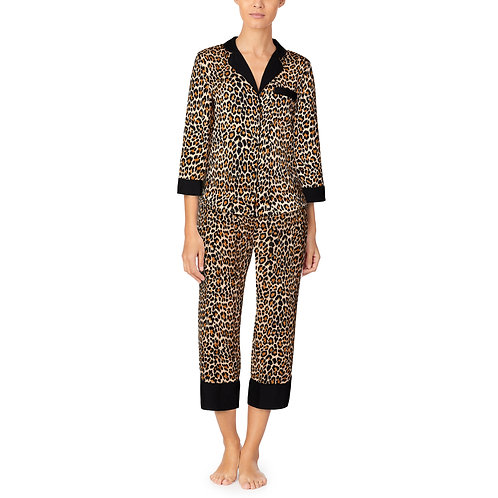 Kate Spade Animal Print Classic Pajama Set