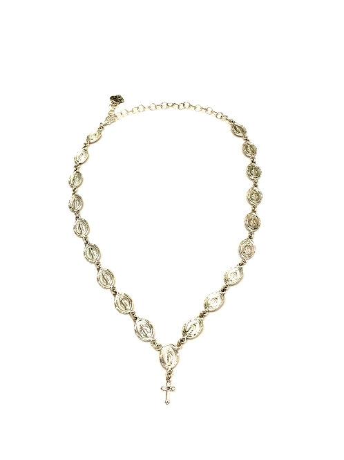 Virgins, Saints & Angels Adjustable Silver Virgin Mary Necklace