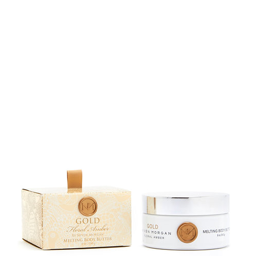 Niven Morgan Gold Floral Amber Melting Body Butter