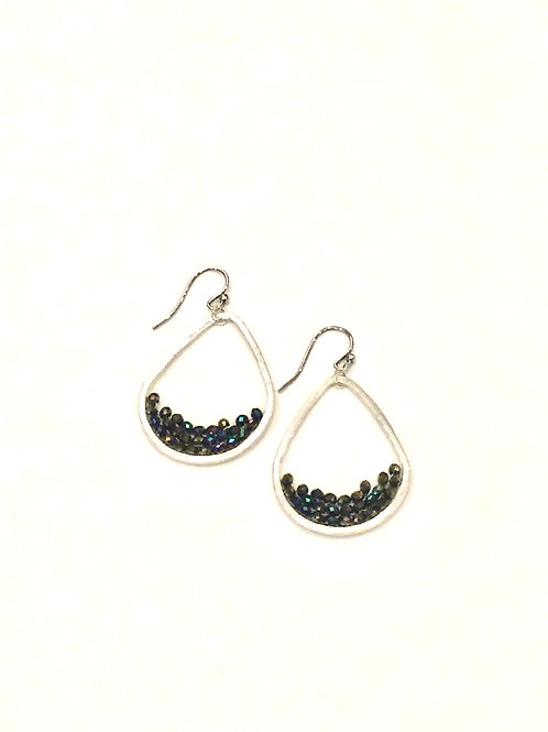 Chan Luu Earrings with Twilight Crystals and Seed Beads