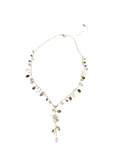Chan Luu  Labradorite Mix Adjustable Necklace