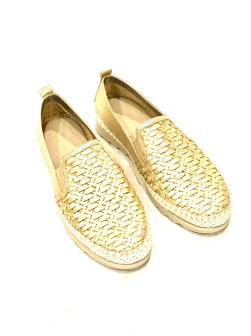 The Flexx Gold Metallic Sneaker