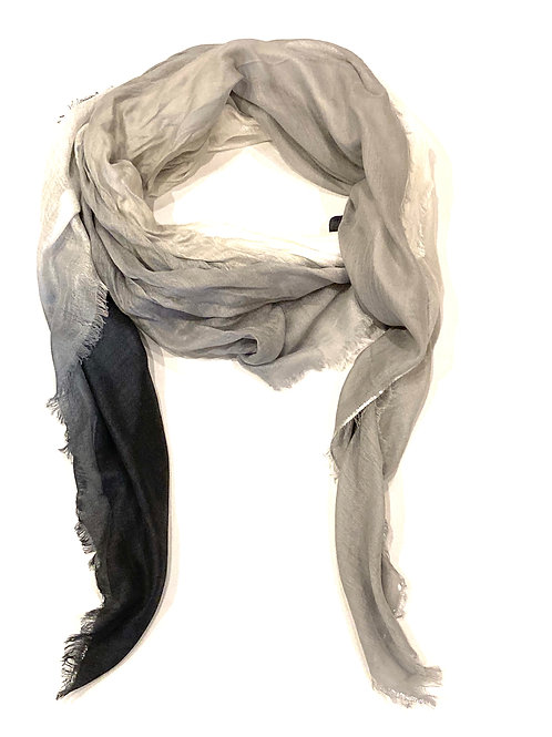 Blue Pacific Scarf Cashmere Glitter Black/White/Grey Ombré