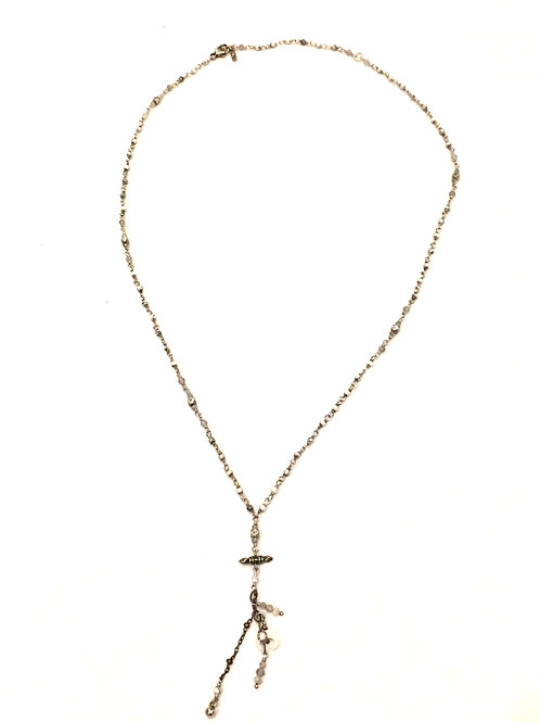 Chan Luu Mix Charm Drop Necklace