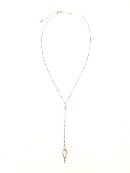 Chan Luu Short Adjustable Chain with Fresh Water Cross - Shaped Pearl