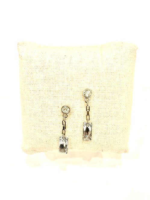 Yolanta Designs Silver with Silver Comet Crystal Drop Earring