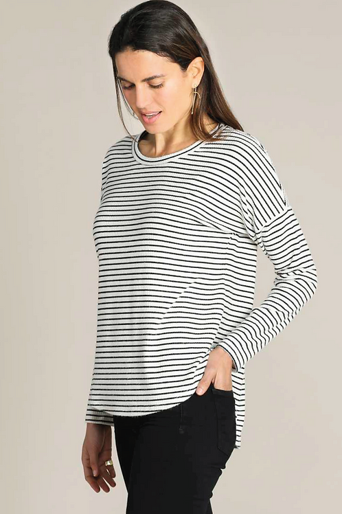 Mododoc Scoop Neck Drop Shoulder Pullover