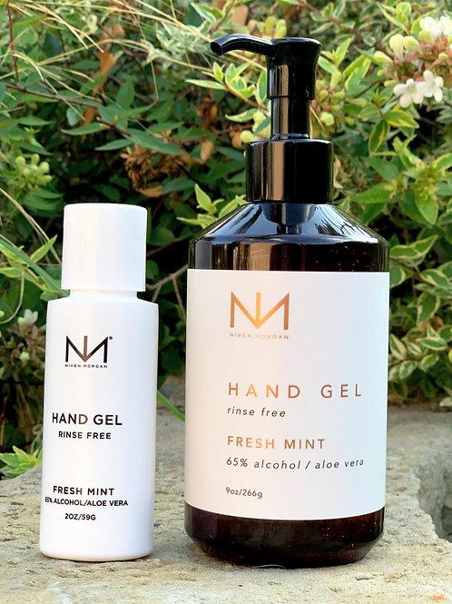 Niven Morgan Fresh Mint Sanitizing Hand Gel 2 oz.