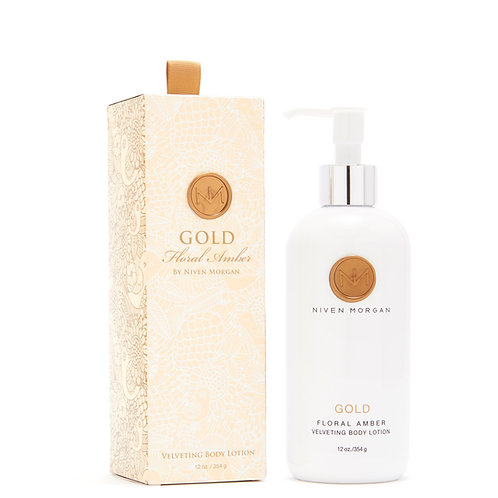 Niven Morgan Gold Floral Amber Velveting Body Lotion
