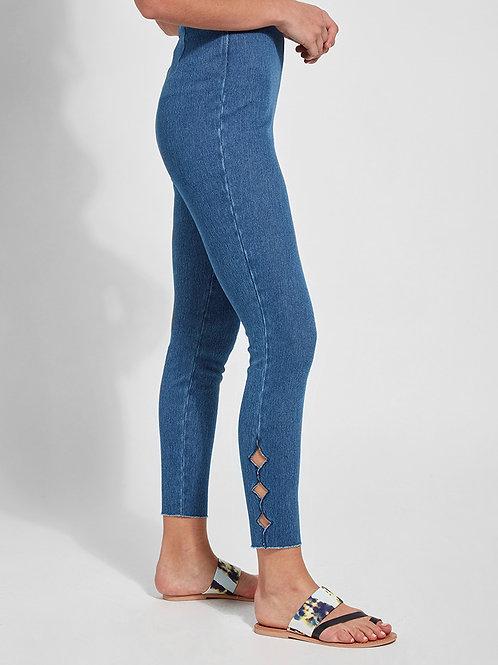 Lysse Side Scallop Denim Legging