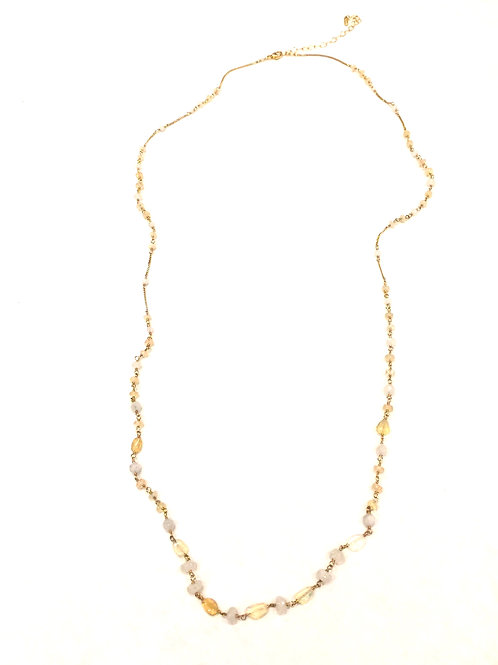 Chan Luu 18kt Gold Plated Long Necklace with Semi Precious Stones