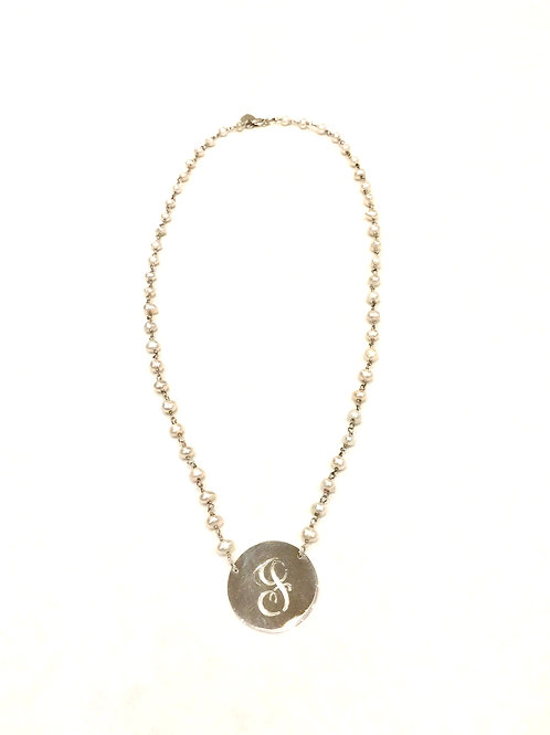 Jane Basch Designs Initial Pearl Necklace