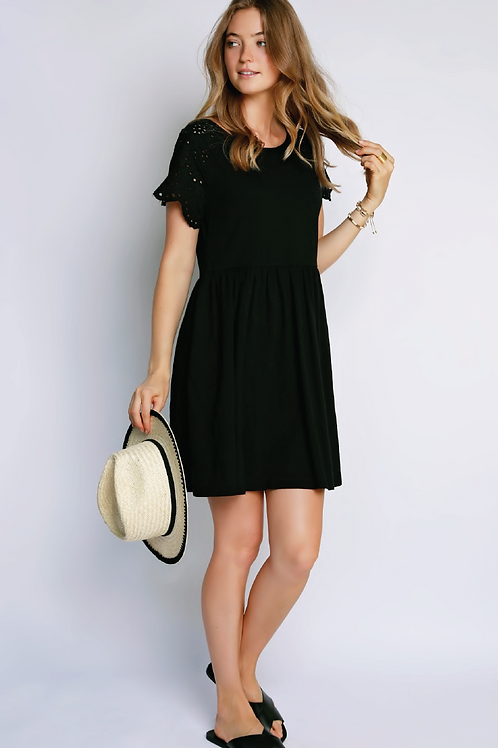 Mododoc Short Cotton Knit Dress