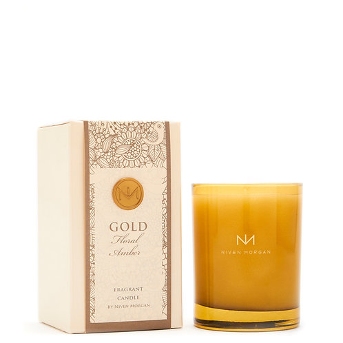 Niven Morgan Gold Floral Amber Fragrant Candle