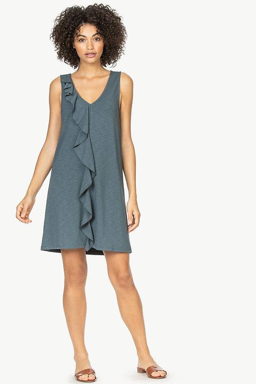 Lilla P Ruffle Front Shift Dress